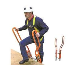 Guardian Safe-T Ladder Rail, Extension System, Orange Color finish. Provides an extended safety railing to enable safe walk-through at top of an extension ladder. universal bolt-on railing kit. Wall Ladders, Safety Ladder, Roof Ladder, Safety Latches, Attic Rooms, Cool Tools, Orange Color, Extensions, Tree Forts