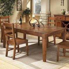 Scottsdale Four Leg Dining Table in Spice | Nebraska Furniture Mart