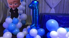 Boss baby backdrop - Melanie Wanner - Boss baby backdrop First birthday party celebration - Boss Birthday, Boys 1st Birthday Party Ideas, Baby Boy 1st Birthday Party, Girl Birthday Decorations, Birthday Party Celebration, Birthday Backdrop, First Birthday Parties, Baby Showers, Toronto