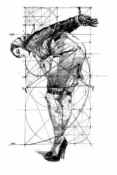and Geometry Art Print by Yury Fadeev - X-Small Dark Art Drawings, Sexy Drawings, Art And Illustration, Drawn Art, Rope Art, Comic Kunst, Geometry Art, Graphic Artwork, Fantasy Kunst
