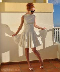 Dressember Day The Curse of the White Dress ⋆ Forever Amber Summer Beauty, Zara Dresses, Dress Me Up, Amber, Fashion Inspiration, White Dress, Ballet Skirt, Formal Dresses, Sewing