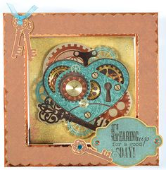 love the steampunk heart!  Paper Wishes®, Scrapbooking Classes and Card Making Classes