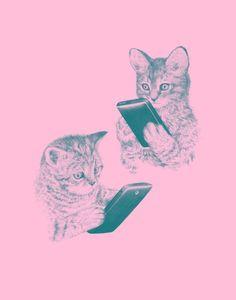 """Kittens Texting"" by Brock Davis"
