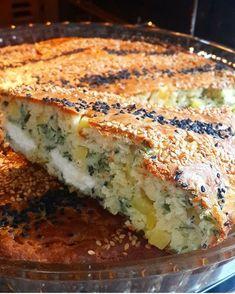 Turkish Breakfast, Breakfast Cake, Turkish Kitchen, Salty Cake, Turkish Recipes, Frozen Yogurt, Quiche, Food And Drink, Diet
