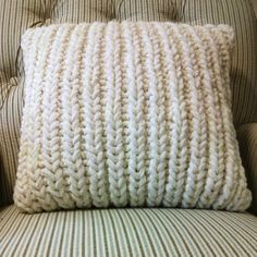 Fisherman's Rib Accent Pillow is a free pillowcase pattern that looks great and is easy to knit.