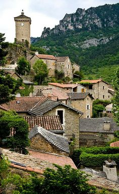 Les Roziers - Peyrelau, Aveyron at the border of Lozere, France