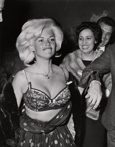 Jayne Mansfield caught by Weegee.