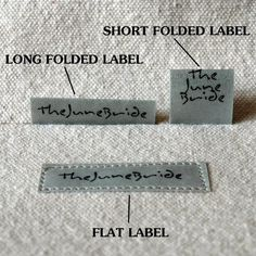 (For sale from thejunebride) DIY Fabric Label Tutorial and Templates - Make Your Own Washable No-Fray Customized Labels