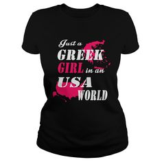 Greek Girl T-Shirts, Hoodies. CHECK PRICE ==► Funny Tee Shirts