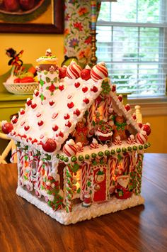 Personalized Wired Wooden Gingerbread House