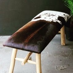 Cowhide Furniture, Stool, Dining Chairs, Home Decor, Decoration Home, Room Decor, Dining Chair, Home Interior Design, Dining Table Chairs