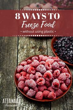 Trying to cut back on plastic in your life? Check out these methods for freezing food *without plastic! #foodpreservation #greenliving #zerowaste