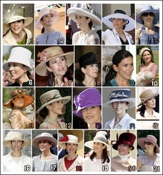Hats and hairstyle à la princess Mary (Denmark). I'm pinning this even though I am mad at Denmark for their ritual slaughter of the Dolphins....;(
