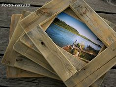 cornici con legno da riciclo