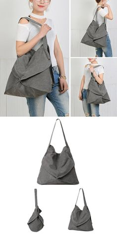 Bagail Women Canvas Irregularity Tote Bag Handbag Casual Shoulder Bag