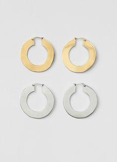 Plate Large Earrings - Céline