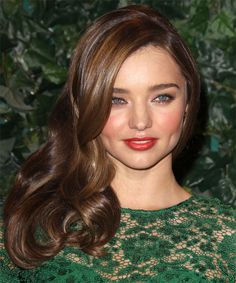 Miranda Kerr Hairstyle - Formal Long Straight Hairstyle. Click on the image to try on this hairstyle and view styling steps!