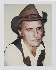 Dennis Hopper (actor artist director collector & American original) 1977 / Polaroid by Andy Warhol. Andy & Dennis go way back and stayed friends for decades. Andy Warhol Pop Art, Polaroid Photos, Polaroids, Dennis Hopper, People Of Interest, Collage, Portraits, Interesting Faces, Famous Faces