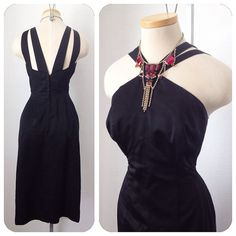 Vintage 1950s Lilli Diamond Black Halter Double Strap by hipsmcgee, $175.00