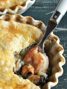 Old Bay Seafood Pot Pie - Seafood Recipes Fish Recipes, Seafood Recipes, Great Recipes, Cooking Recipes, Favorite Recipes, Seafood Pie Recipe, Seafood Casserole Recipes, Recipies, Seafood Meals