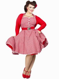 b745060524af BeautyfulYouniverse  Collectif Gretel Gingham Swing Dress Review Plus Size  Rockabilly