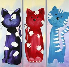 CUTE cat. for my baby room>>>www.oilpaintingsstore.com   $99.99