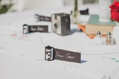 DIY film roll place cards // photo by Jaquelyn Shumate