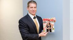WWE Chairman VInce McMahon at 69 lookin buff as ever on the cover of Muscle & Fitness