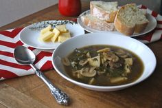 Mushroom, Potato and Kale Soup is a hearty dish with a great, earthy flavor, thanks in part to the mix of mushrooms in this soup.