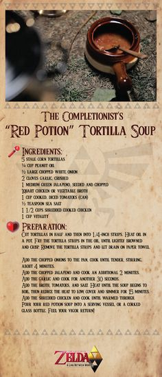 The Completionist's Red Potion Tortilla Soup