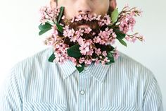 There's nothing better than a man with a beard. except, perhaps, a man with a beard full of flowers.Not only us women love beards, but they also love flowers. (Well, most of us do.