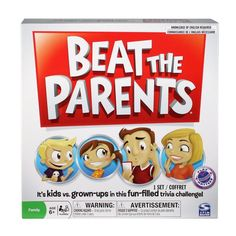 Beat the Parents brings kids together with their parents to go head to head in the fun filled family trivia game
