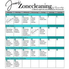 """Nina on Instagram: """"✨Vorschau Juni 2020 . #zonecleaning Übersicht für euch  im Juni. Easy peasy Starten wir mit Zone 1 und lassen die Zone 5 am Dienstag…"""" Templates, Easy, Instagram, Running Away, Tuesday, Stencils, Vorlage, Models"""