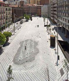Plaza Luna  Landscape Architecture: Brut Deluxe  Location: Madrid Spain  Photos by Landezine Miguel De Guzman