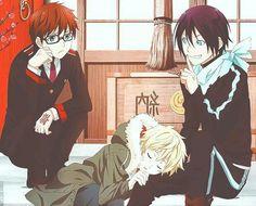 Kazuma, Yukine, sleeping, Yato, funny; Noragami