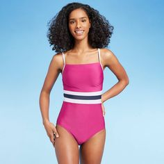 Interval Running, Sun Rays, Vertical Stripes, Range Of Motion, Swimsuits, Swimwear, Stretchy Material, Cover Design, One Piece Swimsuit