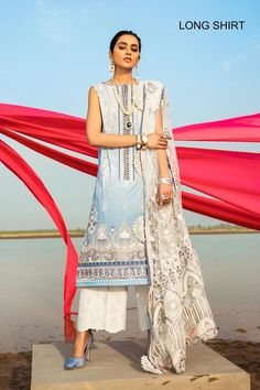 Pakistani Fashion Casual, Pakistani Suits, Salwar Suits, How To Iron Clothes, 3 Piece Suits, Print Chiffon, White Fabrics, Baroque, Party Wear