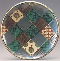 Piece by Hamada Tomoo: A blue persimmon plate with creative playful pattern and complimentary color scheme, Tomoo's palette of vibrant glazes have been handed down from two family generations of potters. Japanese Ceramics, Japanese Pottery, Complimentary Color Scheme, Japanese Aesthetic, Clay Creations, Color Schemes, Pots, Decorative Plates, Palette