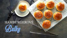 Housky na hamburgery - Kuchařka pro dceru Bread Recipes, Rolls, Peach, Baking, Fruit, Food, Breads, Bread Rolls, Bakken