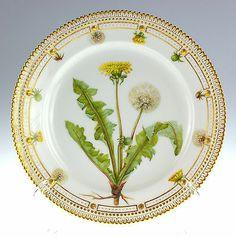 "Royal Copenhagen Flora Danica Luncheon Plate 8 ½"" 3550 Antique 1882 | eBay"