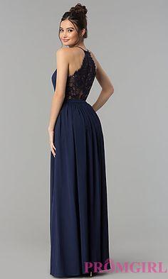 Persevering Women Formal High Waist Sexy Backless Dresses Empire Waist Blue Evening Party Ball Prom Gown Long Maxi Dress Lace Flower Dress Women's Clothing