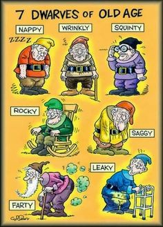 Funny Seven Dwarves Old Age Cartoon