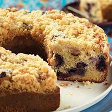 Blueberry Coffeecake with Lemon Streusel: King Arthur Flour