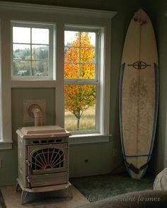 I would like something like this for our pellet stove... no surf board of course