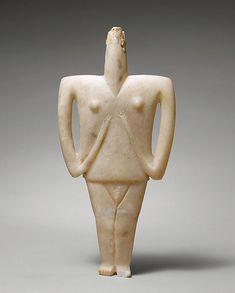 Marble female figure Period: Early Cycladic II Date: 2300–2200 B.C. Culture: Cycladic Medium: Marble