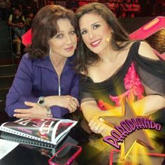Con Angelica Maria