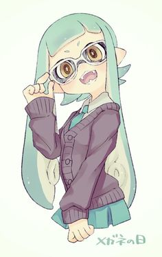 Pale-turquoise Inkling Girl