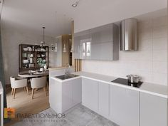 Фото кухня из проекта «Дизайн квартиры в современном стиле, ЖК «Home Sweet Home», 129 кв.м.»