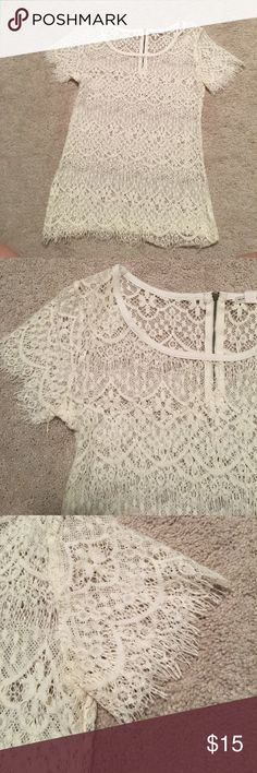 NEVER WORN! Melrose and Market white lace blouse NEVER WORN! Melrose and Market white lace blouse Tops Blouses
