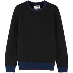 Acne Studios Carly cotton-jersey sweatshirt (€160) ❤ liked on Polyvore featuring tops, hoodies, sweatshirts, black, acne studios, cotton jersey, acne studios sweatshirt, boxy sweatshirt and boxy tops